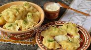 Фото рецепта Вареники с картофелем, белыми грибами и укропом