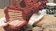 Фото рецепта Пирожное «Шоколадные ломтики»