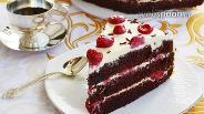 Фото рецепта Шифоновый торт с вишнями