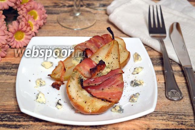 Фото Груши с сыром в духовке
