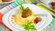 Фото рецепта Запечённые фрикадельки с пастой