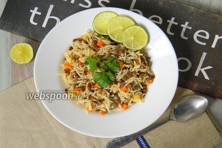 Рис с чечевицей и овощами