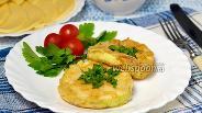 Фото рецепта Омлет в кольце из кабачка