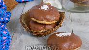 Фото рецепта Кокосовое печенье в шоколаде