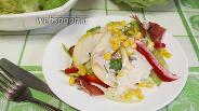 Фото рецепта Салат с кукурузой и ветчиной