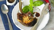 Фото рецепта Бараньи рёбра фаршированные булгуром