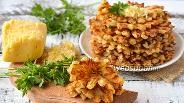 Фото рецепта Пикантные вафли с курицей