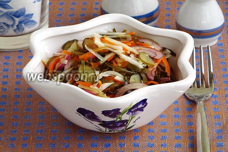 Фото Салат из морской капусты с овощами