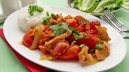 Фото рецепта Куриное филе с красным перцем
