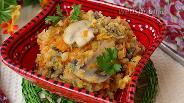 Фото рецепта Гарнир из красной чечевицы с шампиньонами