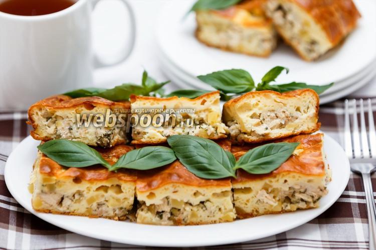 Фото Заливной пирог с курицей и картофелем