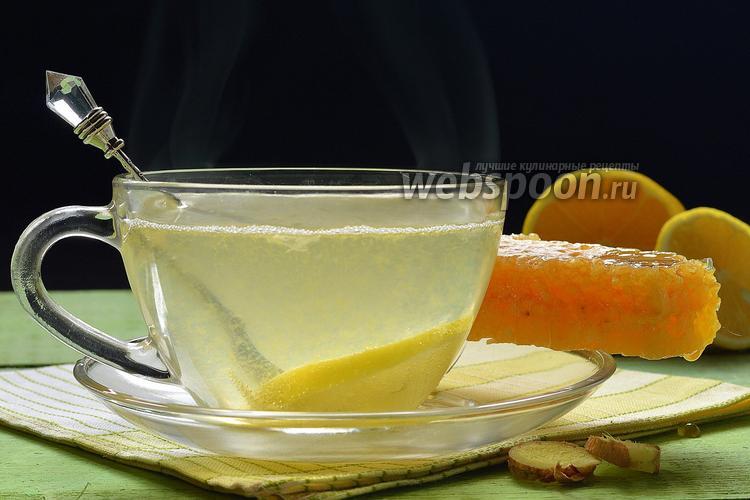 Фото Чай с имбирём и лимоном