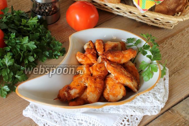 Фото Куриное филе в томатном соусе