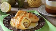 Фото рецепта Слойки «Груши с франжипаном»
