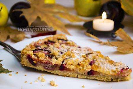 Фруктовый пирог с хрустящей корочкой