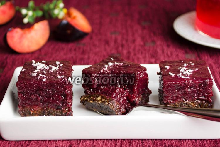 Фото Сливовый десерт с агар-агаром