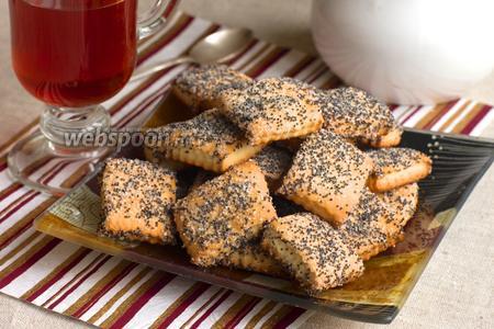 Сметанное печенье с маком