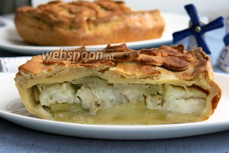 Фото Пирог с рыбой и картофелем