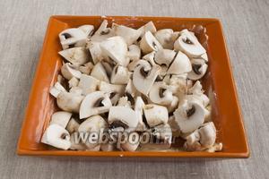Форму для запекания обильно смазать сливочным маслом, выложить грибы.