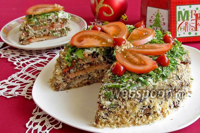 Фото Баклажанный торт