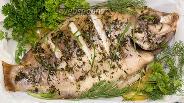 Фото рецепта Морской окунь, запечённый с эстрагоном