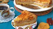 Фото рецепта Пирог «Яблоки под покрывалом»