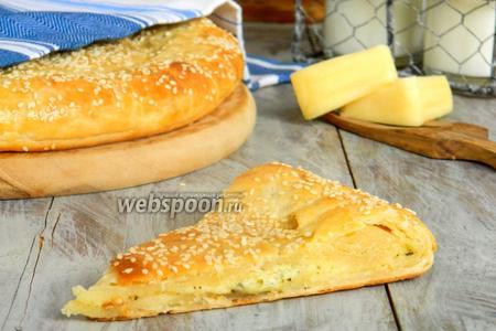 Творожная лепёшка с сыром