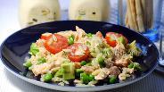 Фото рецепта Салат из пасты орзо с лососем