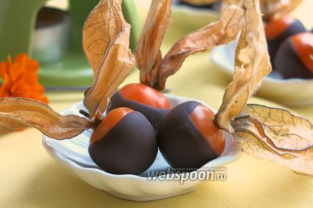 Фото рецепта Физалис в шоколаде с кардамоном