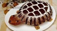 Фото рецепта Тыквенный пирог Черепаха с шоколадной глазурью