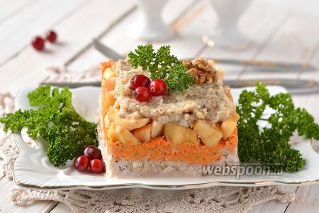 Салат из топинамбура, моркови и яблок