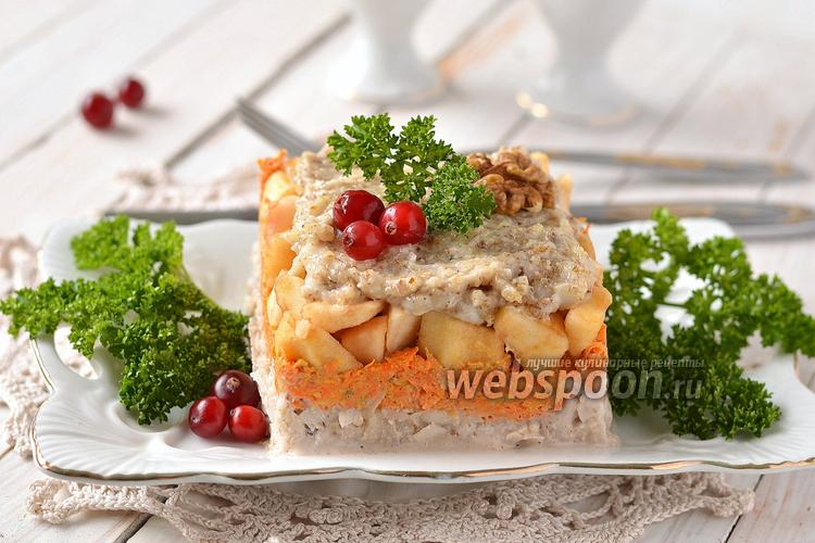 Фото Салат из топинамбура, моркови и яблок