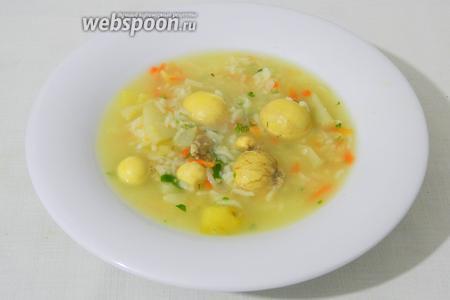 Даём супу настояться и подаём. Приятного аппетита!