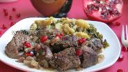 Фото рецепта Мясо с зёрнами граната