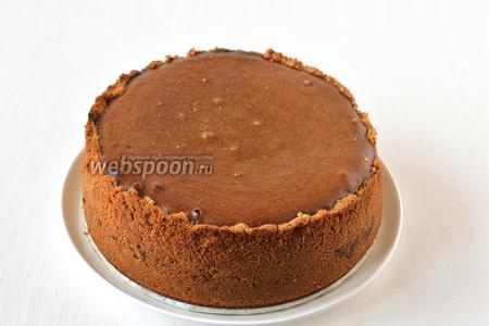 Шоколадно-кофейный сырник готов.