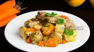 Фото рецепта Свиные рёбрышки с овощным рагу