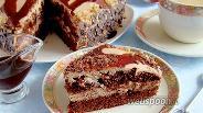 Фото рецепта Торт «Шоколад на кипятке»