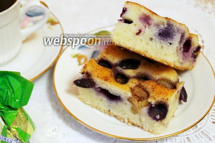 Фото Виноградный пирог с имбирём и корицей