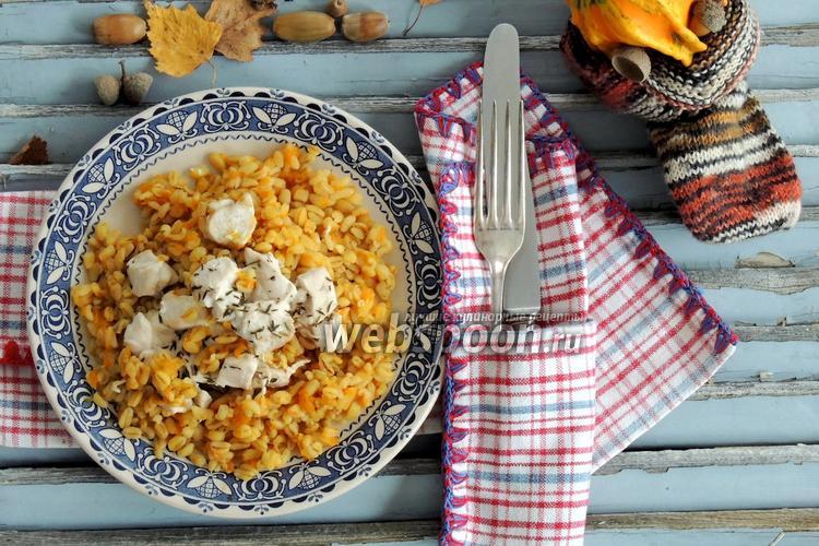 Фото Тыква с пшеницей и куриным филе