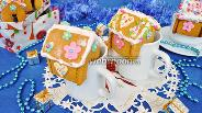 Фото рецепта Мини пряничные домики на кружку