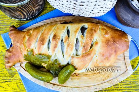 Рыбник с ароматным маслом и капустой