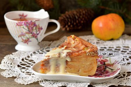 Пирог с яблоками «Невидимый»