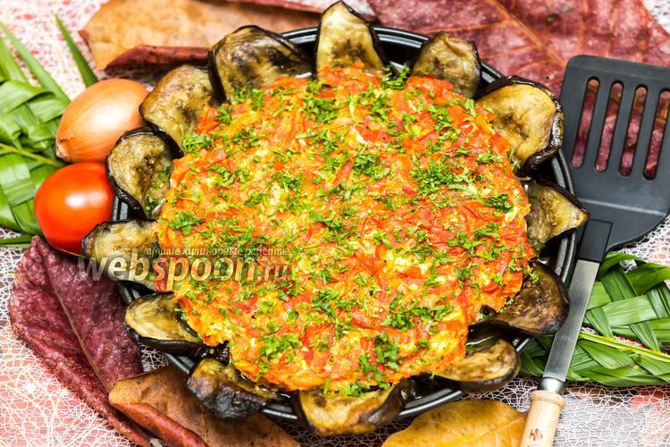 Фото Баклажаны с фаршем под томатной заливкой