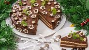 Фото рецепта Шоколадно-кофейный торт «Капучино»