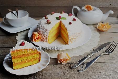 Тыквенный торт с белым шоколадом