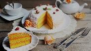 Фото рецепта Тыквенный торт с белым шоколадом