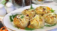 Фото рецепта Картофельные гнёздышки с лисичками