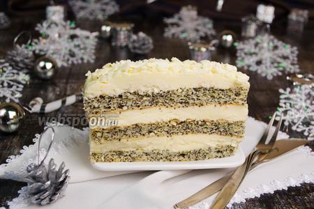 Пирожное со сливочным кремом «Зимняя сказка»