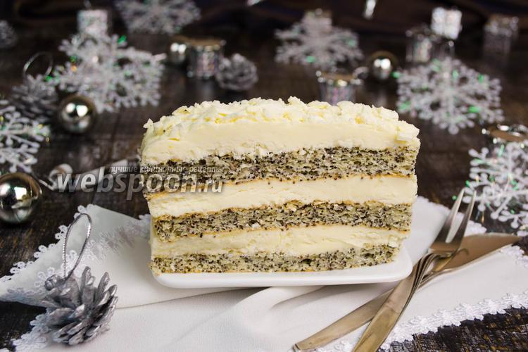 Фото Пирожное со сливочным кремом «Зимняя сказка»
