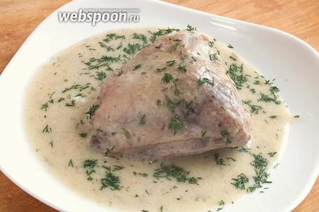 Готовое блюдо подавайте горячим ! Хорошим гарниром станут: отварной картофель, гречневая крупа, рис или домашняя яичная лапша. Приятного аппетита!